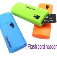 Wholesale 100pcs/lot USB 2.0 Card Reader, Micro SD Card Reader,TF Card Reader