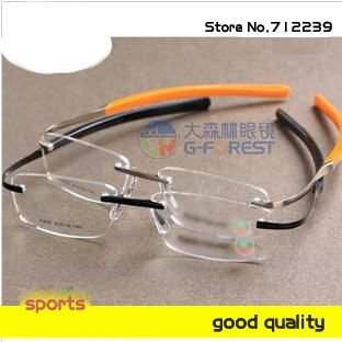 New! High quality brand eyewear optical frame no.0304 eyeglass  FREE SHIP hingless RIMLESS metal men glasses Wholesale/ Retail