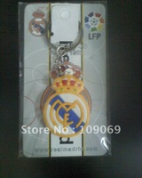 real madrid fc soft pvc keychain / popular white key holder  5pcs/lot