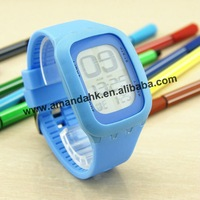 100pcs/lot jelly touch screen watches wholesale,10 colors silicone digital watch,simple silicone watch.
