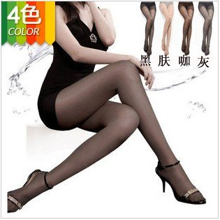 4 colors high quality wrap core silk women's tights stockings pantyhose, consumer pack