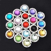 Hot selling bag hook Round foldable Bag Hanger/Purse Hook/Handbag Holder with Acrylic Mix 18 Colors