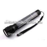 Aluminium Alloy Solar LED flashlight rechargeable led flashlight