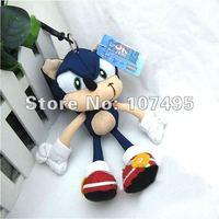 "New Hot Sale 50pcs Sonic The Hedgehog Plush Key Chain Sonic Hedgehog stuffed Plush minions Dolls 8"" Blue Toys Christmas Gift"