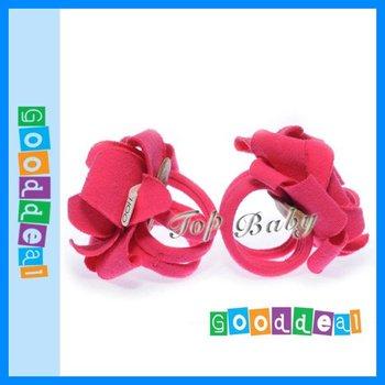 Nueva tapa del bebé de la flor del pie pies Band pie Ties sandalias descalzas primer caminante del bebé zapatos de niño del bebé descalzo zapatos de accesorios