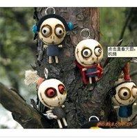 mixed lot 24pcs/lot odd cartoon doll cell phone strap/key chain/MP3/MP4 Straps/sweet keychain/bag pendant  charm