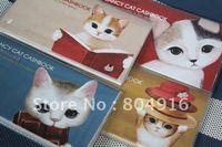FIRST LINE Cute Tokyo Cat PVC Cover Cash Account Book 4 designs ST0800