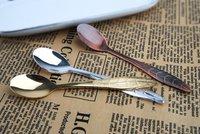 12 pcs/lot Super mini spoons 11cm / 4.33 inch Red Copper petiole spoons  for tea coffee