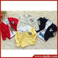 wholesale KIDS boy's girls fashion cotton cardigan sweater baby children's clothing boutique free shipping 5 pcs / lot CD048