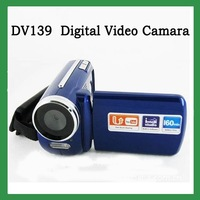 "Free Shipping! Winait DV139 video digital camera Max.12MP 1.8"" TFT LCD  LED Flash Light camcorder blue"