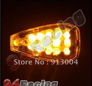 4x 14 Short Stalk LED Motorbike Turn Signals Indicator motorcycle    /free   shipping