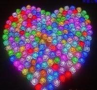 Wedding gift romantic colorful rose night light red rose lights night market toy