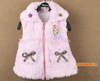 PROM baby kids warm Vest kids top Zipper Waistcoats baby winter Outerwear overcoat Vests baby wear clothing free shipping