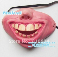 Free shipping Funny toy, Halloween toys, costume party mask, half face mask