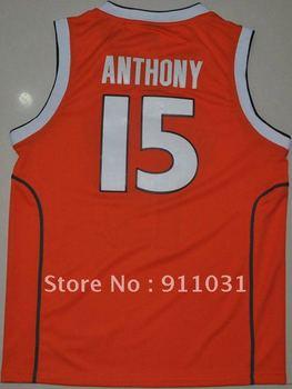 free shipping Syracuse Orange basketball jersey,#15 Carmelo Anthony
