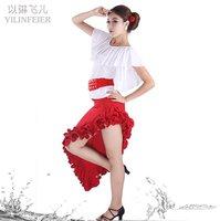 Детская одежда для девочек Childrens Latin Dress Girls Dancewear Stylish Children's Stage Dance Wear Ballroom Latin Dance Dress FY030