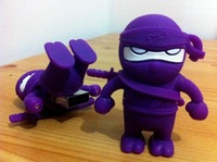 4GB/8GB/16GB 3D Ninja Black/Purple/Red USB Flash Drive Funny Memory Stick