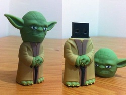 4GB/8GB/16GB 3D Master Yoda USB Flash Drive Star Wars Funny Memory Stick(China (Mainland))