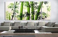 2014 Guaranteed 100% Free shipping New MODERN ABSTRACT WALL DECOR oil painting - BAMBOO 3pcs/set DY-054
