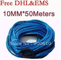 New Strong 100% UHMWPE Synthetic Winch Cable/Rope 10MM*50Meter w/t for 4WD/ATV/UTV/SUV Winch Use////free shipping