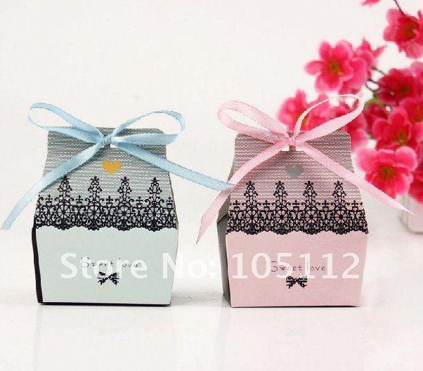 1000pcs/lot sweet love wedding bridal favor candy/chocolate box gift sweet packaging boxes 4 color u pick dhl free shipping(Hong Kong)