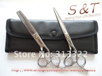 "6"" TG Professional Barber Scissors,Hairdressing Scissors,Hair Cutting Shears,Thinning scissor+Razor scissor Mat Finished 440C"
