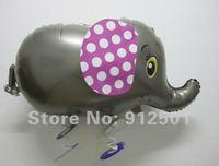 $10 off per $100 order 50pcs/lots factory price  wholesale  gray Elephant walking pet balloons , Helium balloons ,Children toys