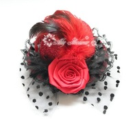 Mini BLACK TOP HAT FASCINATOR FANCY DRESS MOULIN ROUGE VICTORIAN BURLESQUE 12pcs/lot