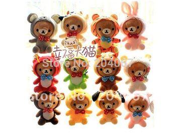 New RILAKKUMA STUFFED DOLL 12 zodiac plush animal toys 20cm size free shipping L0133