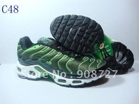 Free Shipping Wholesale 2012 New Men's  Plus TN Men's Running Sport  Footwear Sneaker Shoes - Cement  Green  #C48