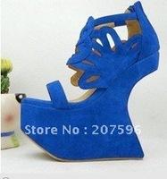 hot sale 2012 Sandals Heel less platform wedge sandals shoes