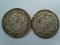 1822 Great Britain Crown British Silver Coin