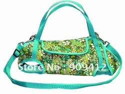 New Arrived Sun Flower Pet Carrier bag Portable Dog Travel Bag Dog Harness Green and red(China (Mainland))