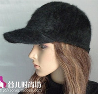 Gentlewomen exquisite rabbit fur beret all-match flower dome fedoras fashion cap bucket hat free shipping