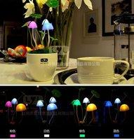 48pcs/ctn wholesale avatar automatic light control led night lamp mushroom night light LED sleep lamp 340g/pc PVC/ceramic base