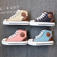 3 expert skills 277 male girls shoes leather mosaic high canvas shoes sport shoes athletic shoes 23 - 35