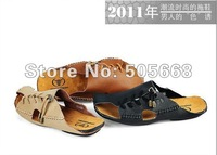 Summer Korean Stylish men's sandals, men sandals men's casual shoes leather casual leather slippers