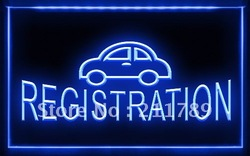 AC019 B Car Registration Auto Services LED Light Sign(China (Mainland))