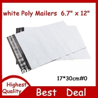 100 PCS 6.7 x 12 Inch 170x300mm WHITE POLY MAILERS SHIPPING BAGS /COURIER BAG