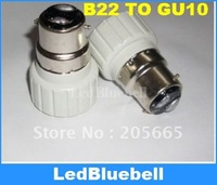 Wholesale 200pcs/lot  Light Bulb Lamp Adapter B22 to Gu10 Converter