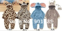 New Arrival Lovely 4 Animal Style Kids Rompers,Baby Clothing,Single Layer Jumpsuit Rompers