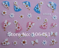 Free shipping fake Nail Art Decals French 3D Sticker Decoration xf422