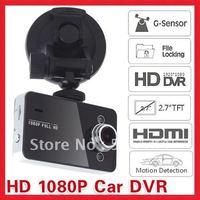 "Free Shipping 2.7"" Full HD 1080P Vehicle Camera Car DVR Recorder K6000"
