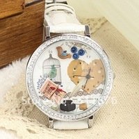 Free Shipping High Quality Japan hand-made watch Mini Polymer clay Watch --Love's watchman mn662