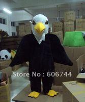 Adult Size Custom Made Black Fur Eagle Mascot Costumes Fancy Dress USPS Free Shipping