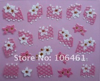 New  Mix Design pink  Color Nail Art Sticker Tip Decal varies Designs Free Shipping