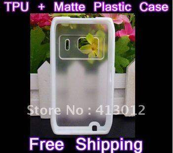 55PCS/lot Combo Dual Color TPU Hard Plastic Transparent Case Cover Skin Bumper For Nokia NK N8 Free Shipping