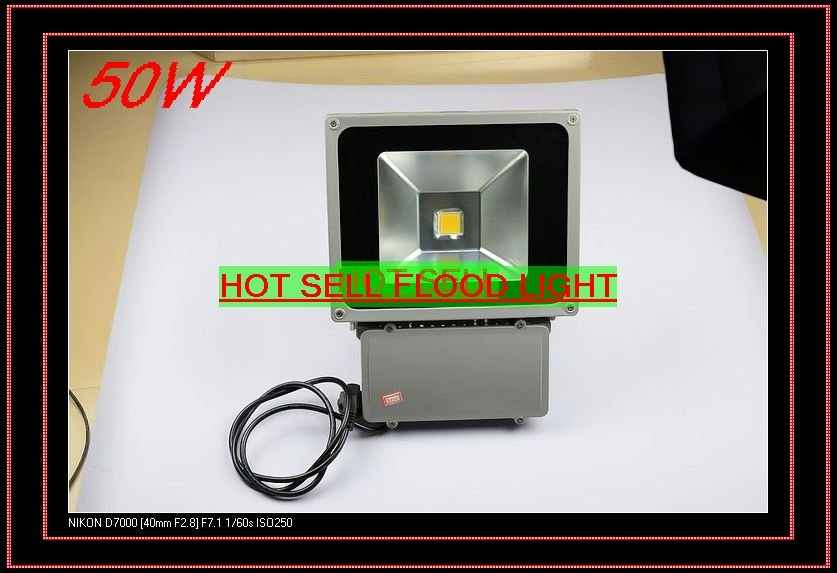 Free shipping 50W high power led flood light Warm white / Cool white Sharing Lighting outdoor lighting(China (Mainland))