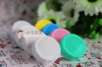 $100 get $10 Off WholesaleMOQ 50PCS/Lot  Letter Shape Colored Contact Lens Case Dula Double Cases Free Shipping CPA