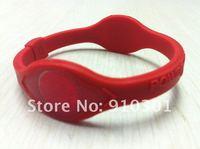 Free shipping New Fashion sport Red Hologram health silicone wristband black hologram bracelet